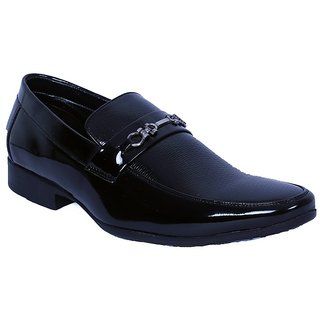 Anson men's black synthetic leather formal shoes-6