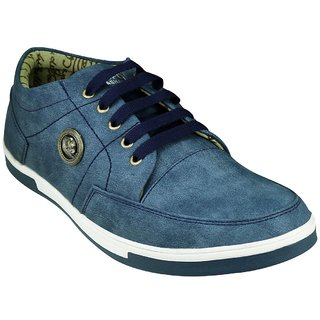 Anson men's blue synthetic casual shoes-6