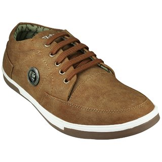 Anson men's tan synthetic casual shoes-6
