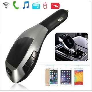 X5 Plus LCD Wireless FM Transmitter MP3 Player TF Car Kit Charger with Bluetooth Function