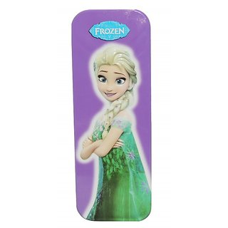 6th Dimensions Frozen Metal Pencil Box (Pack of 1 - Colour and Design May Vary )