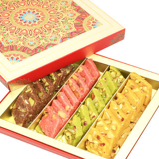 Mothers Day Sweets-Ghasitaram's Assorted Kaju Katlis in Fancy Box