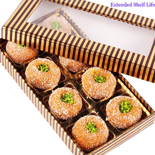 Mothers Day Sweets-Gold and Brown Mathura Peda Box