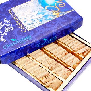 Mothers Day Sweets-Ghasitaram's Gulkand Kaju Katli 400 gms