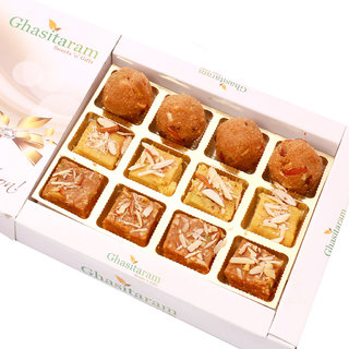 Mothers Day Sweets-North Indian Mix in White Box