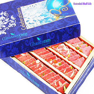 Mothers Day Sweets-Ghasitarams Strawberry Katli 800 gms