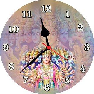 3d vishnuji avtaar wall clock
