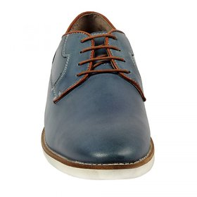 ZINT Genuine Soft Leather Mens Grey Outdoor Casual and Partywear Lace up shoes