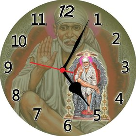 3d white sai baba wall clock