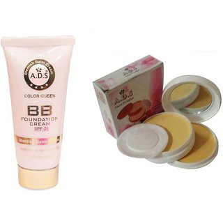 ADS BB Cream (SPF-20) / Compact Powder  (Set of 2)