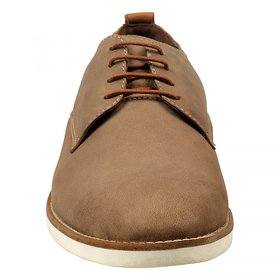 ZINT Genuine Soft Leather Mens Brown Casual Corporate Lace Up Shoes