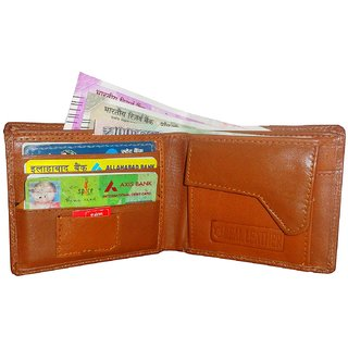 d90fab8a5f8f ATORAKUSHON MENS GENTS PURE LEATHER WALLET PURSE MONEY BAG CREDIT CARD  HOLDER BUSINESS CARDHOLDER(4 Card ...