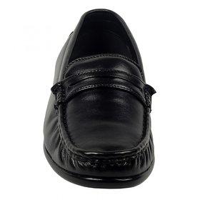 ZINT Genuine Soft Leather Mens Black Formal Shoes