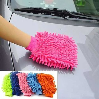 Kudos Car-Bike Cleaning Micro Fibre Glove set of 2pc