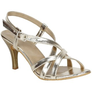 d2022400d422 MISTO VAGON WOMEN AND GIRLS PARTY WEAR CASUAL AND FORMAL HEELS SANDALS IN  GOLD VJ1210