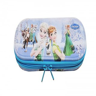 6th Dimensions  Frozen Metal Pencil Box With Closer With Zipper - Pack Of 1 - Assorted Colour