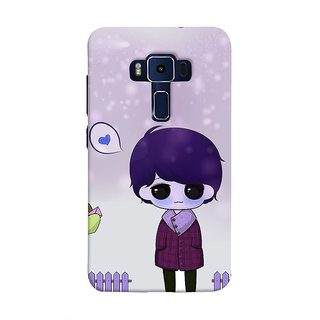 Print Masti Laughing Images Of Owls Desig Back Cover For Asus Zenfone 3 Deluxe ZS570KL (5.7 Inches)