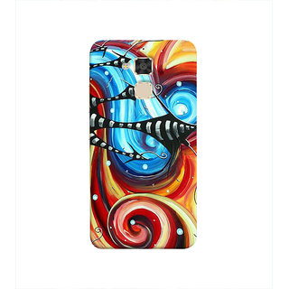 Print Masti Cute Little Owls In Black Background Design Back Cover For Asus Zenfone 3 Max ZC520TL (5.2 Inches)