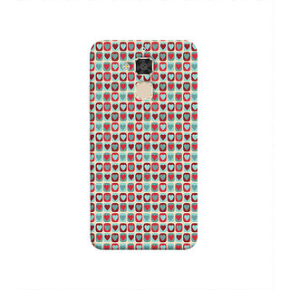Print Masti Lovely Colorful Checks Design Back Cover For Asus Zenfone 3 Max ZC520TL (5.2 Inches)