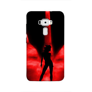 Print Masti Sexy Shining Grey Velvet Cloth Design Back Cover For Asus Zenfone 3 ZE520KL (5.2 Inches)