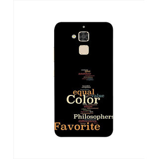 Print Masti Motivated Futuristic Message In Brown Background Dsign Back Cover For Asus Zenfone 3 Max ZC520TL (5.2 Inches)