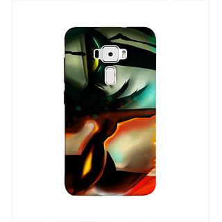 Print Masti Lovely Orange Color Checks Design Back Cover For Asus Zenfone 3 ZE520KL (5.2 Inches)
