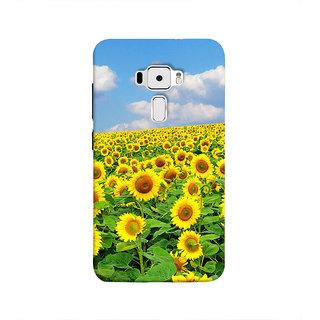 Print Masti Lovely White Shining Stars In Blue Background Design Back Cover For Asus Zenfone 3 ZE520KL (5.2 Inches)