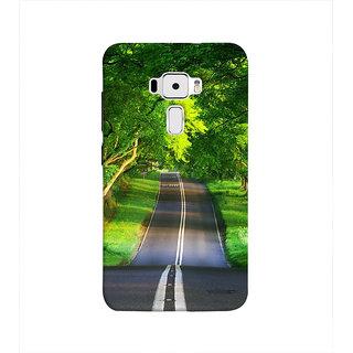 Print Masti Lovely Green Ethnic Festival Rangoli Design Back Cover For Asus Zenfone 3 ZE552KL (5 Inches)