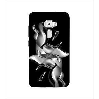 Print Masti Artistic Fire Horse Is Running In Black Background Design Back Cover For Asus Zenfone 3 ZE552KL (5 Inches)