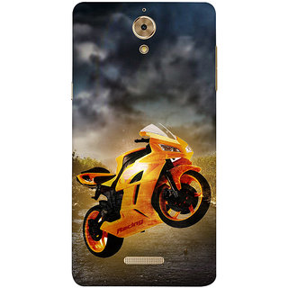 Print Masti Beautiful Laxmi Ji Is Standing In Yellow Background Design Back Cover For Coolpad Mega 2.5D