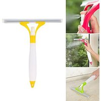 9Colors 3 In 1 Spray Type Cleaning Brush Glass Wiper Window Clean Shave Car Window Cleaner Brush Double Side Glass Cleaning Spray