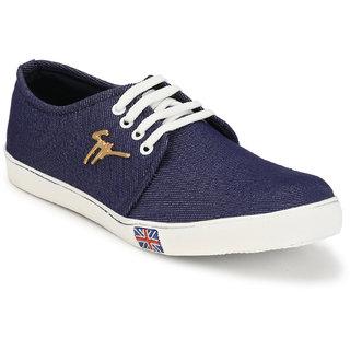 buy groofer men's blue denim lace up casual shoes online