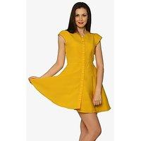 Summertime Love Skater Dress In Yellow