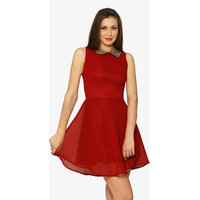 The Look Of Love Skater Dress In Red