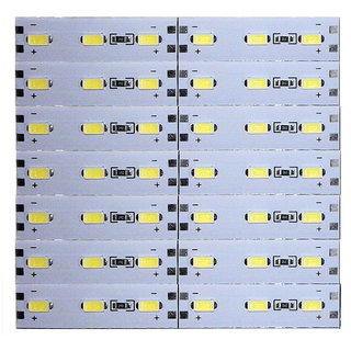 12 Volts DC Rigid Aluminum Slot 5730 SMD 42 LED Strip Light