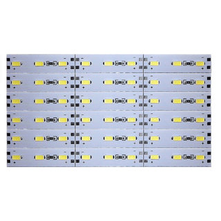 12 Volts DC Rigid Aluminum Slot 5730 SMD 54 LED Strip Light