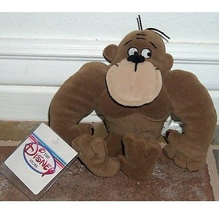 "Retired Disney George of the Jungle 7"" Plush Ape Bean Bag Doll New with Tags"