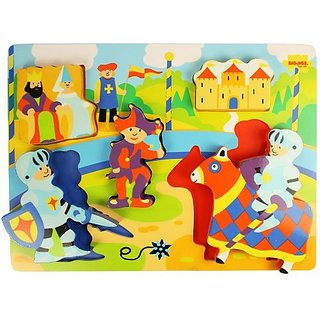 Bigjigs Toys BJ548 Chunky Lift Out Castle Puzzle