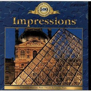 Impressions 500 Piece Puzzle, The Louvre Museum, Paris France