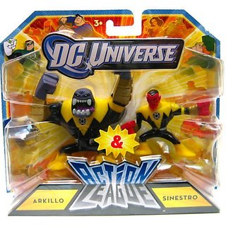 DC Universe Action League Mini Figure 2Pack Arkillo Sinestro