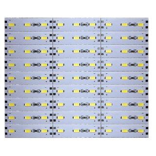 12 Volts DC Rigid Aluminum Slot 5730 SMD 81 LED Strip Light