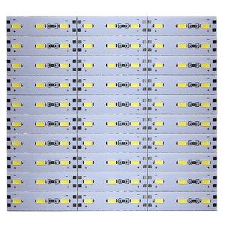 12 Volts DC Rigid Aluminum Slot 5730 SMD 90 LED Strip Light