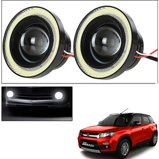Vheelocityin 2Pc 3.5Inch Car Fog Lamp Angel Eye Drl Led Light  For Maruti Suzuki Vitara Brezza