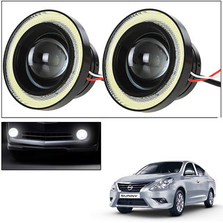 Vheelocityin 2Pc 3.5Inch Car Fog Lamp Angel Eye Drl Led Light  For Nissan New Sunny