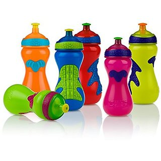 Nuby Pop-up Sipper Gator Grip 450ml - Pack of 1, F