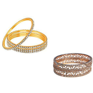 Bangles Combo (4Pcs and 2Pcs) by Sparkling Jewellery