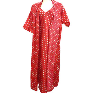 974cf81416 Buy Catch My Style Red Printed Night Gown Set Online - Get 16% Off
