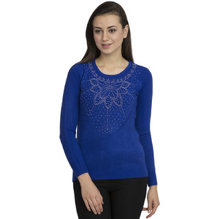 fcc82761532a8 Buy SZEP Round Neck Woolen Top Online   ₹695 from ShopClues