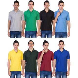 kaizen Multi Regular Fit Polo T Shirt Pack of 8