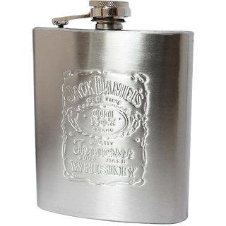 Jack Daniel's Stainless Steel Whisky Hip Flask ( 8 OZ )